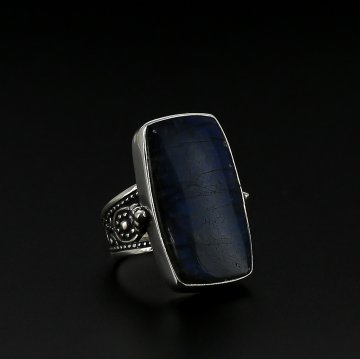 Эксклюзивное серебряное кольцо (лабрадор)