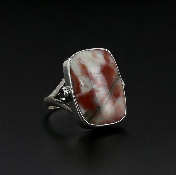Эксклюзивное серебряное кольцо (яшма)