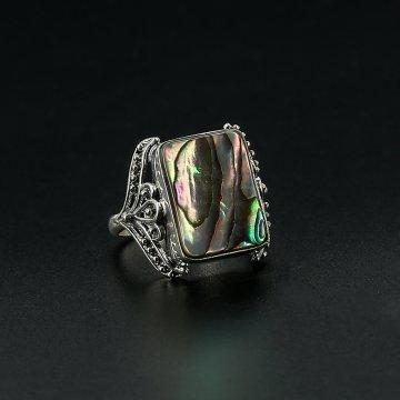 Серебряное кольцо (гелиотис)