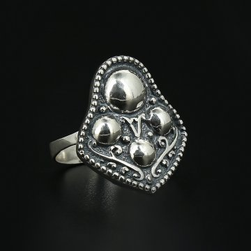 Серебряное кольцо Сферы