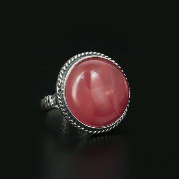 Серебряное кольцо (арбузный кварц)