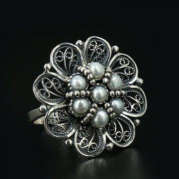 Серебряное кольцо (жемчуг)