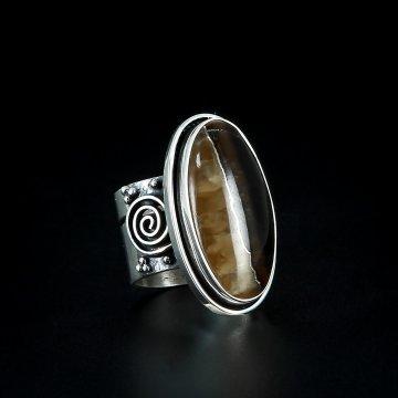 Серебряное кольцо авторская работа (симбирцит)