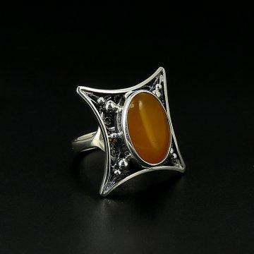 Серебряное кольцо авторская работа (агат)