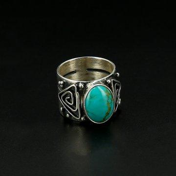Серебряное кольцо авторская работа (бирюза)