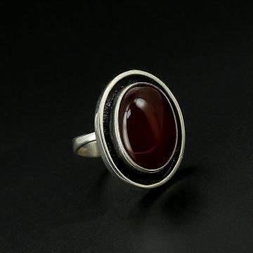 Серебряное кольцо авторская работа (сердолик)