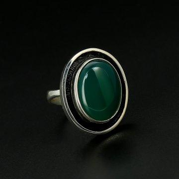 Серебряное кольцо авторская работа (хризопраз)