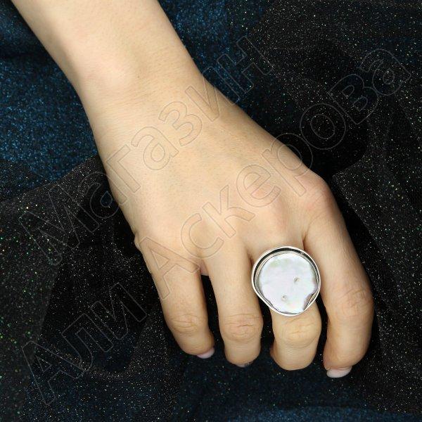 Серебряное кольцо авторская работа (барочный жемчуг)