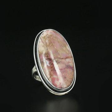 Серебряное кольцо авторская работа (родонит)