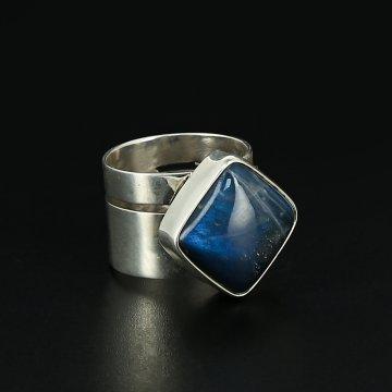 Серебряное кольцо Минимализм авторская работа (лабрадор)