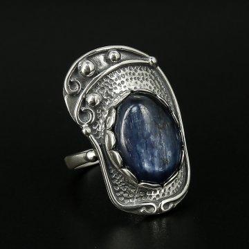 Серебряное кольцо (кианит)