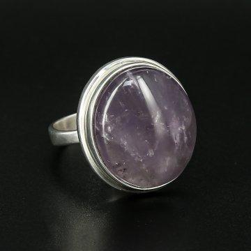Серебряное кольцо авторская работа (аметист)