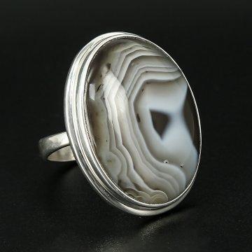 Серебряное кольцо авторская работа (агат ботсвана)