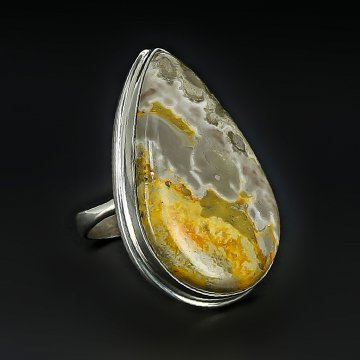 Серебряное кольцо авторская работа (яшма)