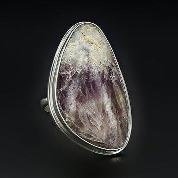 Серебряное кольцо авторская работа (флюорит)