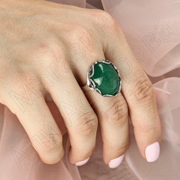 Серебряное кольцо (хризопраз)