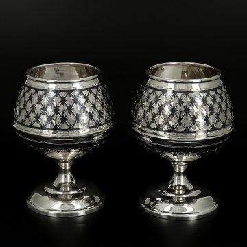 Серебряные бокалы (2 персоны)