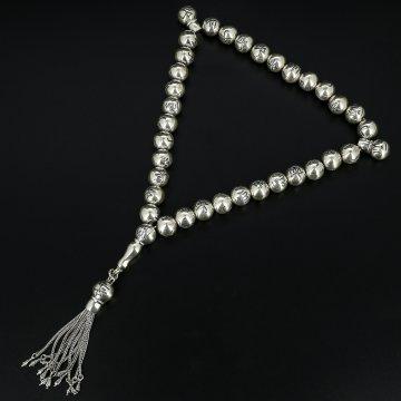 Серебряные четки (33 бусины)