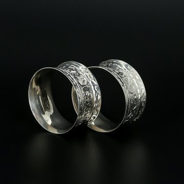 Серебряные кольца для салфеток (2 персоны)