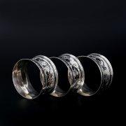 Серебряные кольца для салфеток (3 персоны)