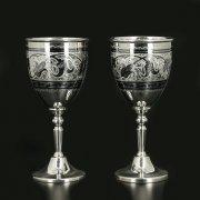 Серебряные рюмки объемом 80 мл (2 персоны) арт.11682