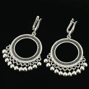 Серебряные серьги с филигранью арт.11940