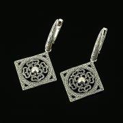 Серебряные серьги с филигранью арт.11942