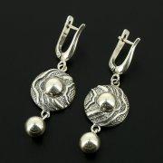 Серебряные серьги с филигранью арт.11946