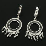 Серебряные серьги с филигранью арт.11949