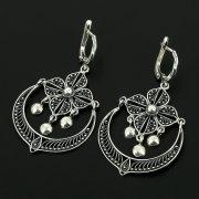 Серебряные серьги с филигранью арт.11971