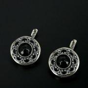 Серебряные серьги с филигранью (агат)