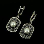 Серебряные серьги (барочный жемчуг)