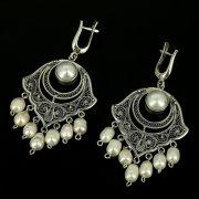Эксклюзивные серебряные серьги (барочный жемчуг)