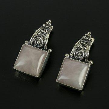 Серебряные серьги (кварц)