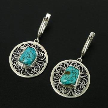 Серебряные серьги (говлит)