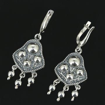 Серебряные серьги Сферы