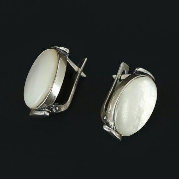 Серебряные серьги (перламутр)