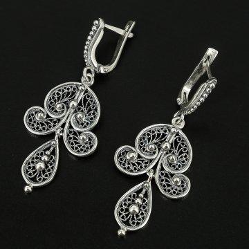 Серебряные серьги (филигрань)