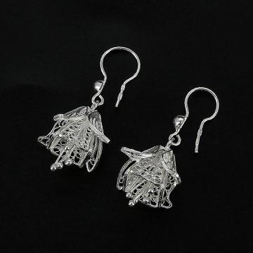 Серебряные серьги Колокольчики