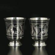 Серебряные стаканы на 120 мл (2 персоны) арт.11680