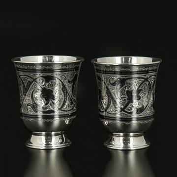 Серебряные стаканы на 120 мл (2 персоны)