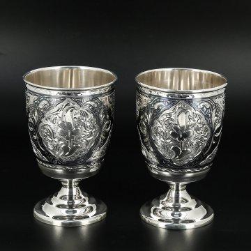 Серебряные стаканы 200 мл (2 персоны)