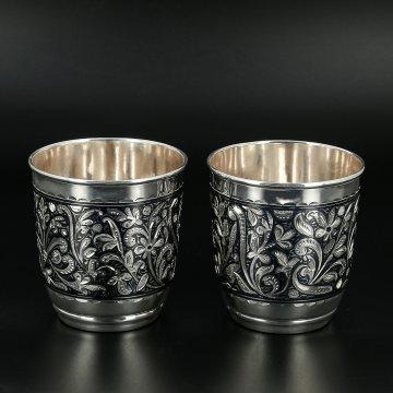 Серебряные стаканы 180 мл (2 персоны)