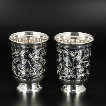 Серебряные стаканы 120 мл (2 персоны)