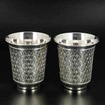 Серебряные стаканы 150 мл (2 персоны)
