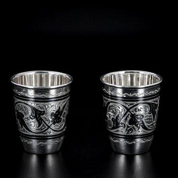 Серебряные стопки 30 мл (2 персоны)