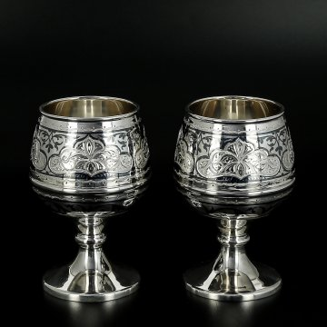 Серебряные бокалы 100 мл (2 персоны)