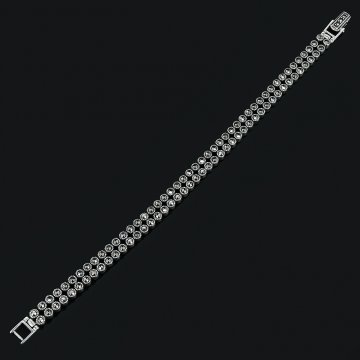 Серебряный браслет (марказит)