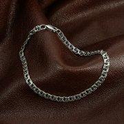 Серебряный браслет Бисмарк 19,5 см (ширина 0,4 см)