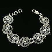 Серебряный браслет с филигранью арт.11960